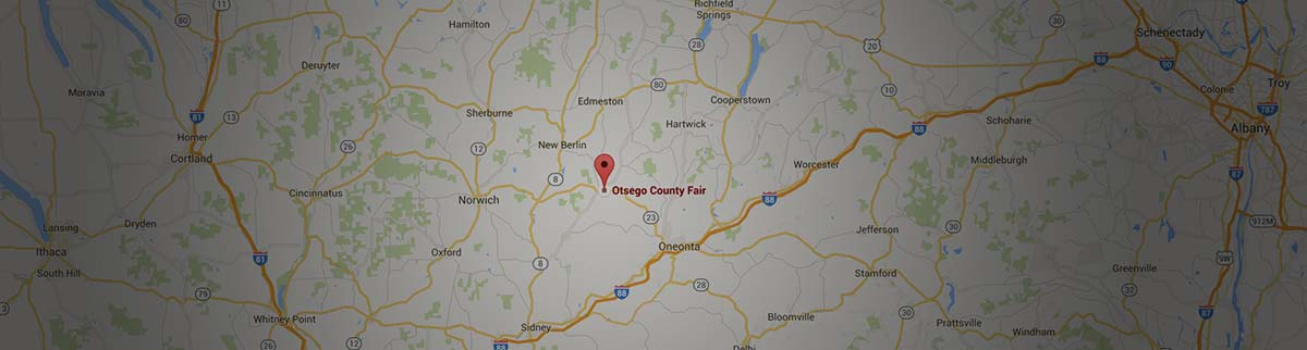 map to Otsego County Fair
